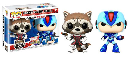 Funko Marvel Gamerverse Marvel vs Capcom: Infinite POP! Games Rocket vs Mega Man X Vinyl Figure 2-Pack