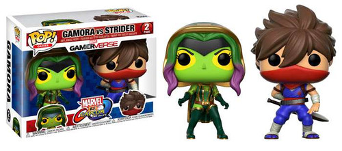 Funko Marvel Gamerverse Marvel vs Capcom: Infinite POP! Games Gamora vs Strider Vinyl Figure 2-Pack