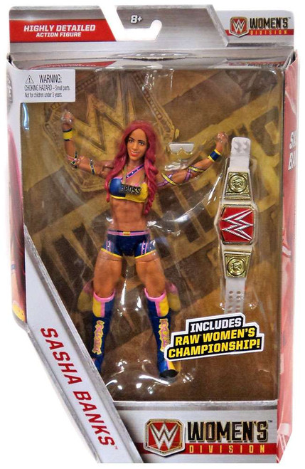 WWE Wrestling Elite Collection Women's Division Sasha Banks Exclusive Action Figure [RAW Women's Championship]