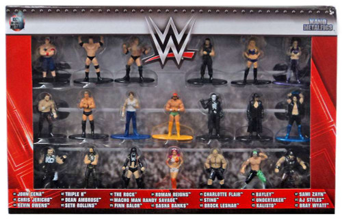 WWE Wrestling Nano Metalfigs WWE Exclusive 1.5-Inch Diecast Figure 20-Pack