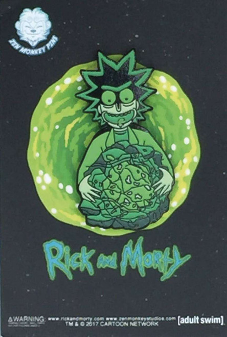 Rick & Morty Rick with Isotope 1.6-Inch Enamel Pin [Glow-in-the-Dark]