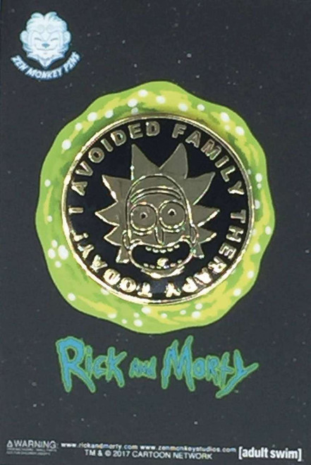 "Rick & Morty ""I Avoided Family Therapy"" 1.6-Inch Enamel Pin"