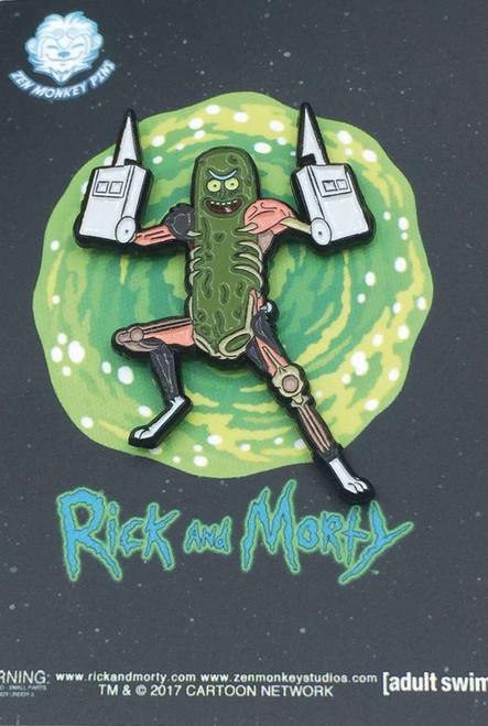 Rick & Morty Pickle Rick 1.6-Inch Enamel Pin [Hand Blades]