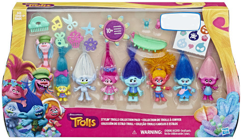 Stylin' Trolls Collection Exclusive Mini Figure 8-Pack