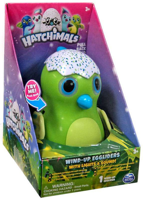 Hatchimals Green Draggle Egglider 4-Inch Wind-Up Figure [with Lights & Sounds]