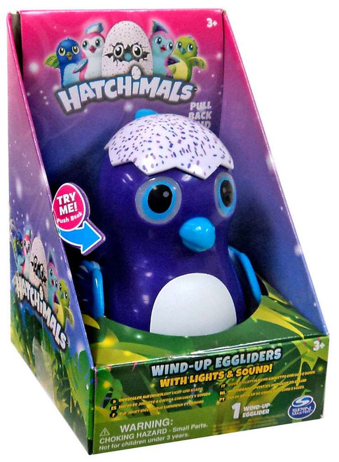 Hatchimals Purple Draggle Egglider 4-Inch Wind-Up Figure [with Lights & Sounds]