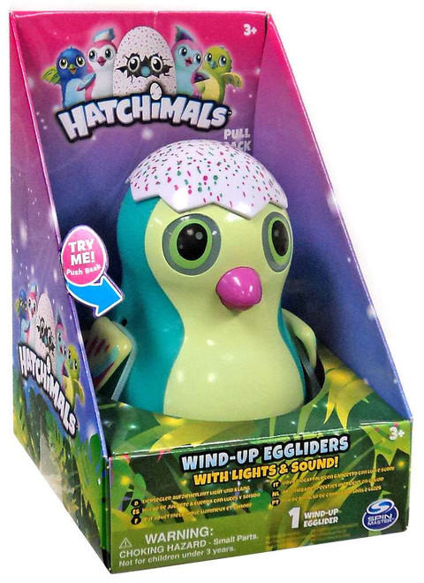 Hatchimals Green Penguala Egglider 4-Inch Wind-Up Figure [with Lights & Sounds]