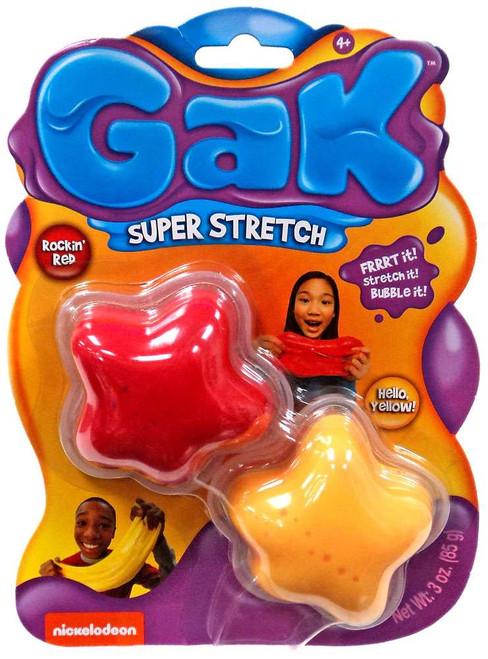 Nickelodeon Gak Super Stretch Rockin' Red & Hello Yellow