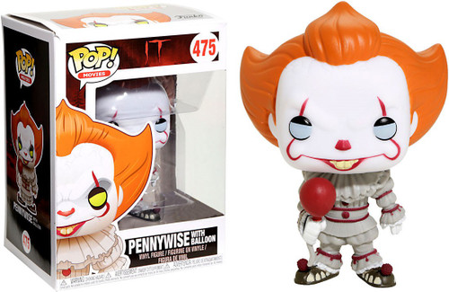Funko IT Movie (2017) POP! Movies Pennywise with Balloon Exclusive Vinyl Figure #475