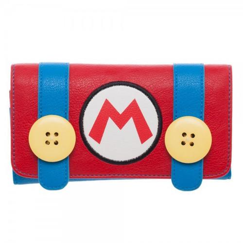 Super Mario Nintendo Mario Jrs. Flap Wallet Apparel