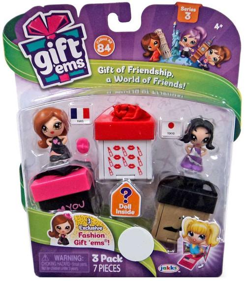 Gift 'Ems Series 3 Paris & Tokyo Exclusive Mini Figure 3-Pack