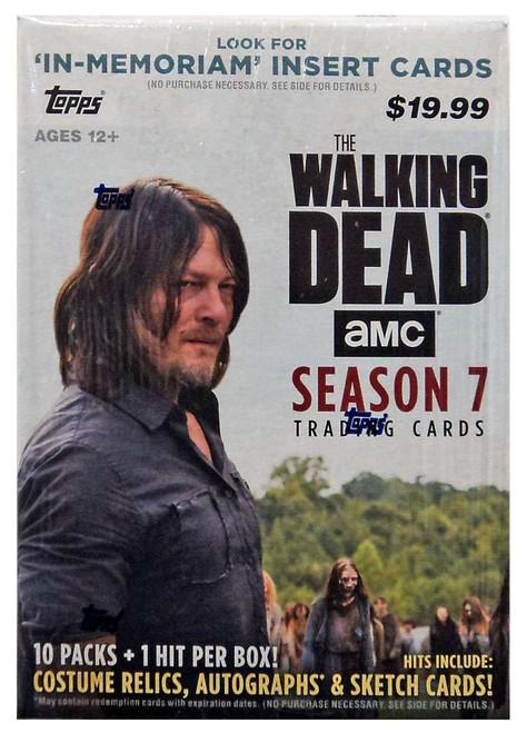The Walking Dead Topps Season 7 Trading Card BLASTER Box [10 Packs]