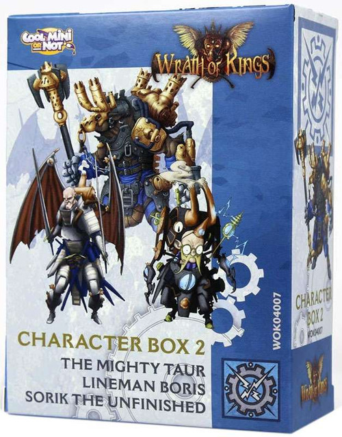 Wrath of Kings Character Box 2 Miniatures WOK04007 [The Mighty Taur, Lineman Boris & Sorik the Unfinished]