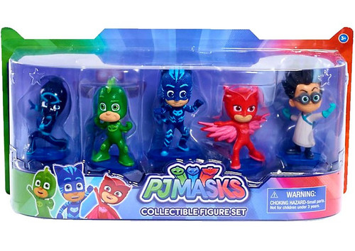 Disney Junior PJ Masks Romeo, Gekko, Catboy, Owlette & Night Ninja Exclusive Figure 5-Pack