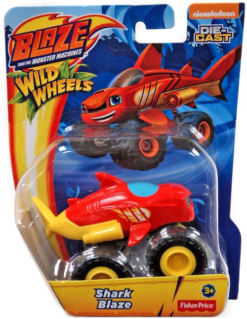 Fisher Price Blaze & the Monster Machines Nickelodeon Wild Wheels Shark Blaze Diecast Car