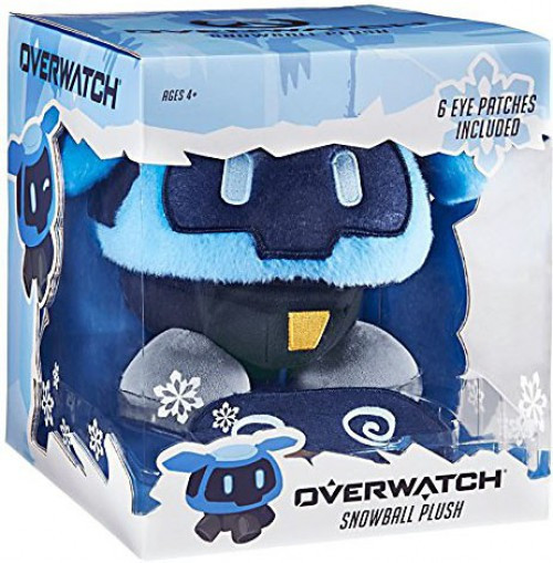 Overwatch Snowball 8-Inch Deluxe Plush [6 Interchangeable Eyes Patches]