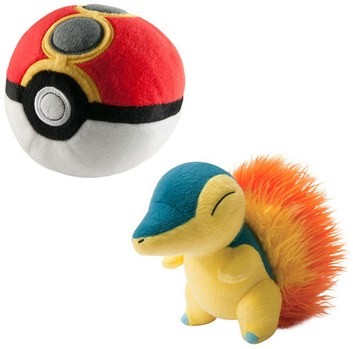 Pokemon Cyndaquil & Repeat Ball Exclusive 6-Inch Plush Set