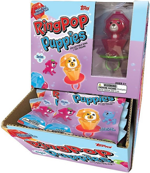 Ring Pop Puppies Topps Series 1 Mystery Box [24 Packs]
