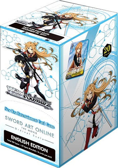 Weiss Schwarz Sword Art Online The Movie Ordinal Scale Booster Box [20 Packs]
