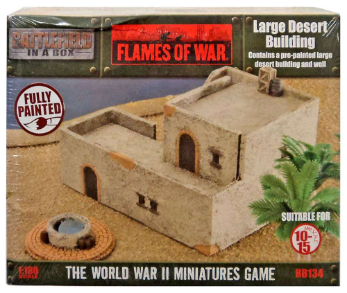 Flames of War Battlefield in a Box Large Desert Building & Well Miniatures BB134 [Pre-Painted]