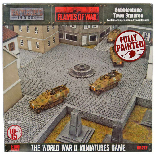 Flames of War Battlefield in a Box Cobblestone Town Squares Miniatures BB212 [Pre-Painted]