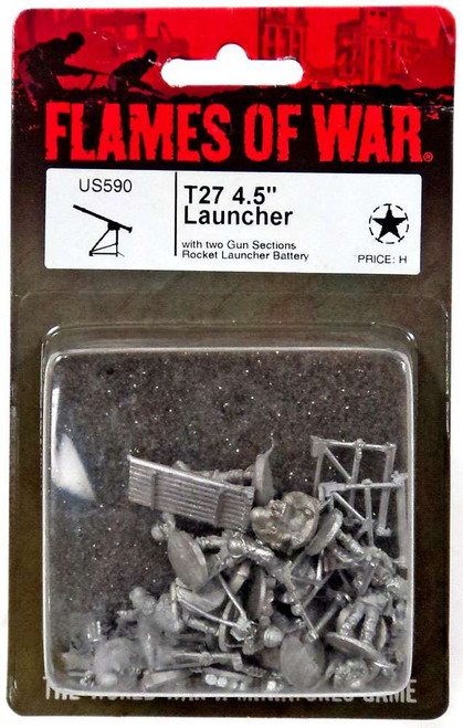 "Flames of War T27 4.5"" Launcher Miniatures US590 [with Two Gun Sections Rocket launcher Battery]"