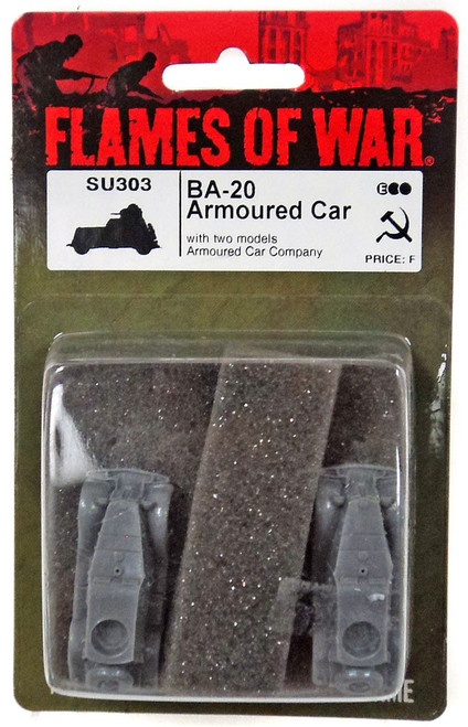 Flames of War BA-20 Armoured Car Miniatures SU303 [with Two Models Armoured Car Company]