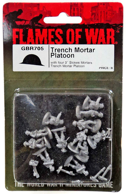 "Flames of War Trench Mortar Platoon Miniatures GBR705 [with Four 3"" Stokes Mortars Trench Mortar Platoon]"