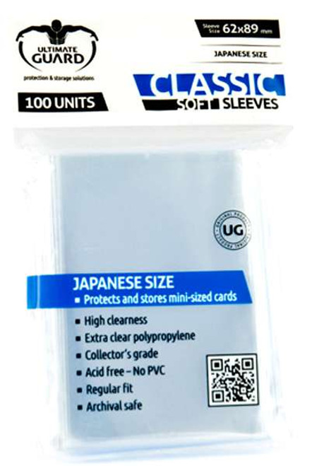 Ultimate Guard Classic Soft Small Size Transparent Card Sleeves [100 Count]