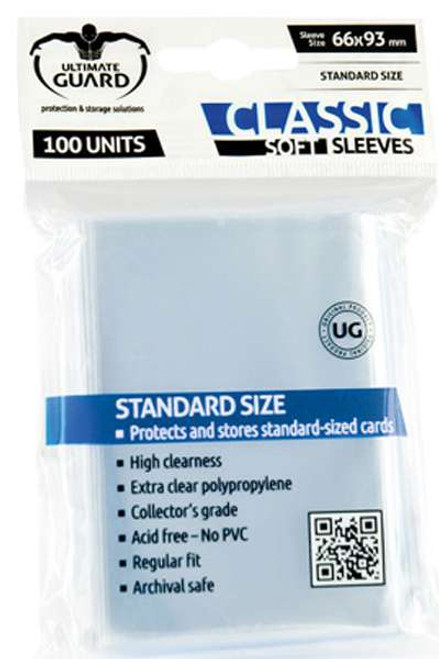 Ultimate Guard Classic Soft Transparent Card Sleeves [100 Count]