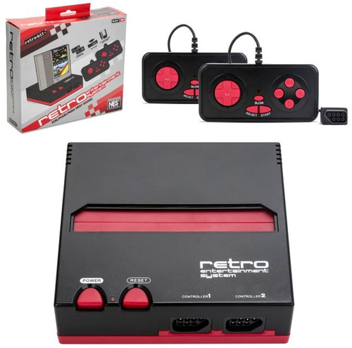 Retro-Bit Retro Entertainment System [Black & Red]