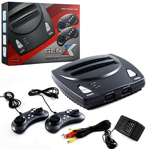Retro-Bit GEN-X Hybrid Twin Console [For Genesis & NES Games]