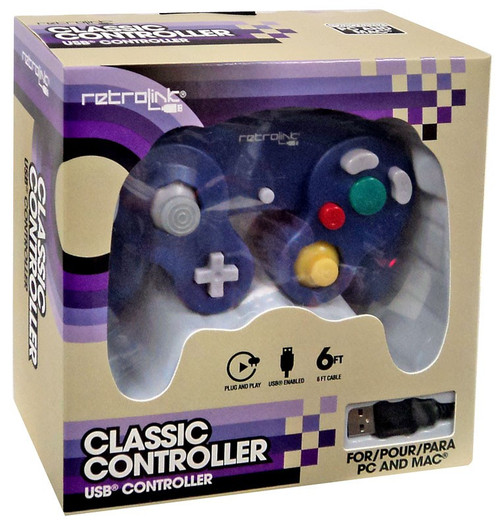 Retrolink USB Nintendo GameCube Classic Video Game Controller [Purple]