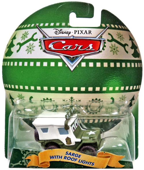 Disney / Pixar Cars 2017 Holiday Sarge with Roof Lights Diecast Car