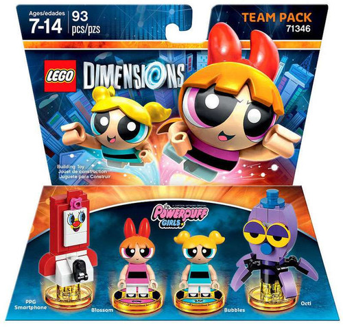 LEGO Dimensions Powerpuff Girls PPG Smartphone, Blossom, Bubbles & Octi Team Pack #71346