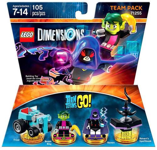 LEGO Dimensions Teen Titans Go! T-Car, Beast Boy, Raven & Raven's Spellbook Team Pack #71255