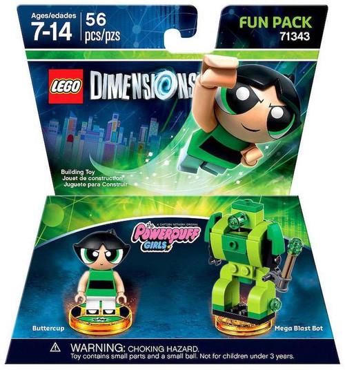LEGO Dimensions The Powerpuff Girls Buttercup & Mega Blast Bot Fun Pack #71343