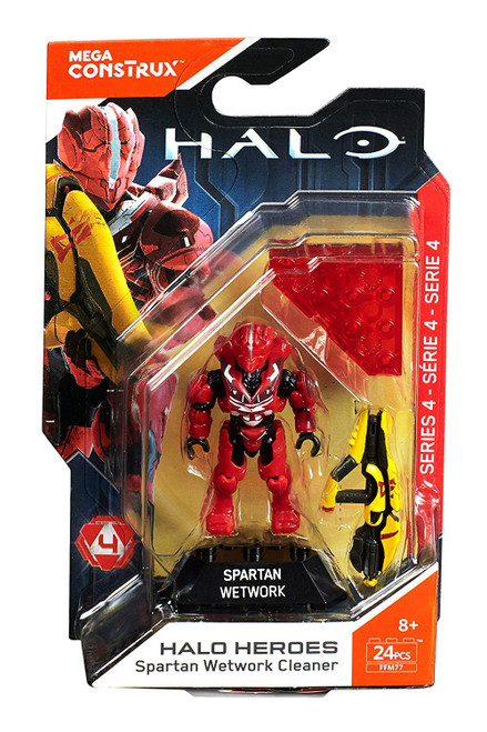 Halo Heroes Series 4 Spartan Wetwork Cleaner Mini Figure