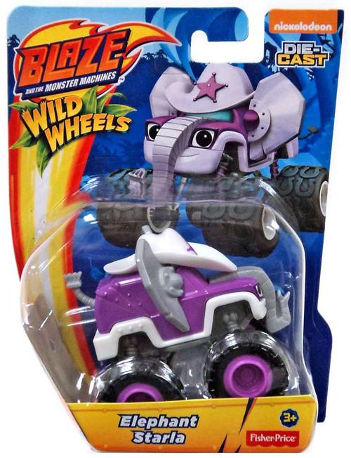 Fisher Price Blaze & the Monster Machines Nickelodeon Wild Wheels Elephant Starla Diecast Car