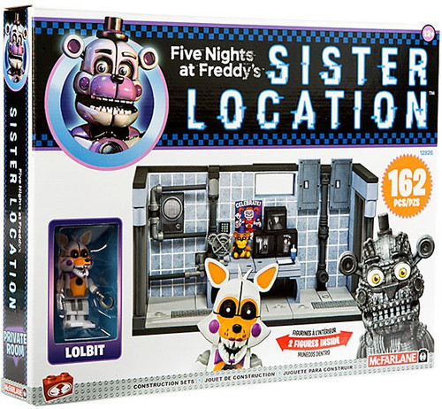 McFarlane Toys Five Nights at Freddy's Private Room Exclusive Construction Set [Lolbit & Jumpscare Funtime Freddy]