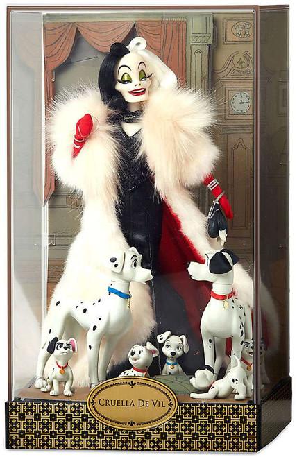 Disney 101 Dalmatians Designer Folktale Series Cruella de Vil, Pongo, Perdita & Puppies Exclusive 11-Inch Doll