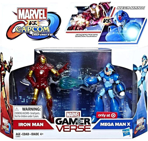 Marvel Gamerverse Marvel vs Capcom: Infinite Iron Man & Mega Man X Exclusive Action Figure 2-Pack