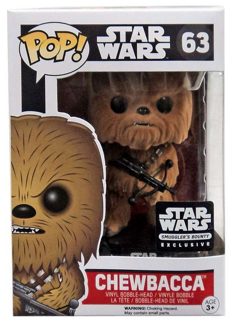Funko The Force Awakens POP! Star Wars Chewbacca Exclusive Vinyl Bobble Head #63 [Flocked, Damaged Package]