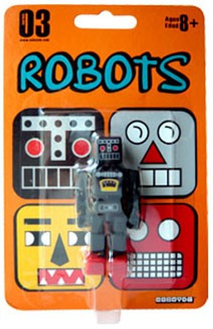 Stikfas Robots Cuboyds Series 03 Cuboyd ro-K Action Figure [Black, Loose]