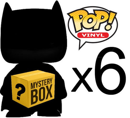 Funko MYSTERY BOX LOT of 6 Funko POP! Vinyl Figures [Completely Random, No Duplicates!]