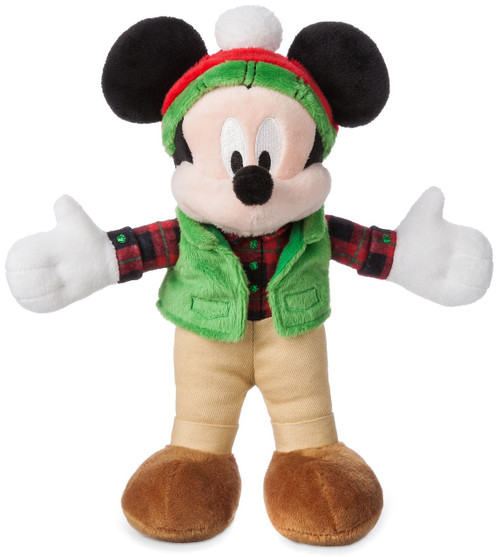Disney 2017 Holiday Mickey Mouse Exclusive 9-Inch Mini Bean Bag Plush