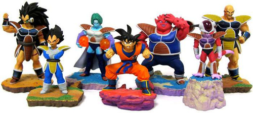 Dragon Ball Super Set of 7 FULL COLOR Rival 3.5-Inch PVC Mini Figure [Goku, Vegeta, Frieza, Nappa, Raditz, Zarbon and Dodoria]