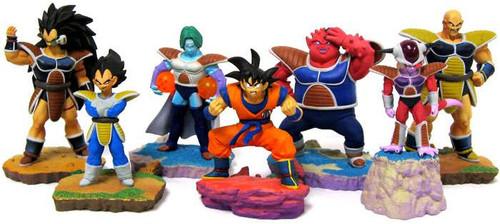 Dragon Ball Super Set of 7 FULL COLOR Rival 3.5-Inch PVC Mini Figure [Goku, Vegeta, Frieza, Nappa, Raditz, Zarbon and Dodoria]