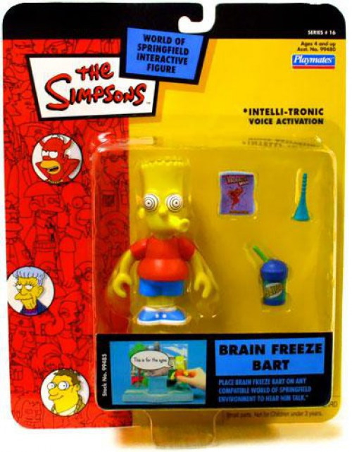 The Simpsons Series 16 Bart Simpson Action Figure [Brain Freeze]