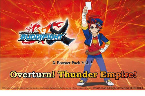 Future Card BuddyFight Trading Card Game Vol. 3 Overturn! Thunder Empire! Booster Box [30 Packs]